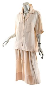 Stella McCartney STELLA MCCARTNEY Pale Blush Rayon/Silk B/D Blouse+Skirt Ensemble - 44/46