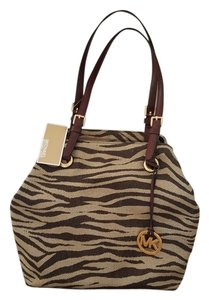 Michael Kors Tote in Tan and dark brown