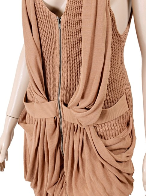 Jean-Paul Gaultier Knit Vest Sleeveless Drape Draped Sweater