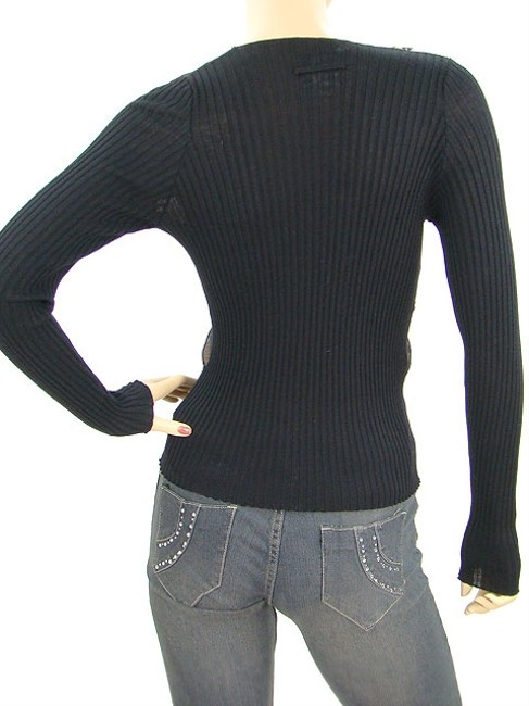 Jean-Paul Gaultier Crystal Wool Knit Scoop Sweater
