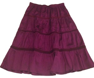 Calypso Skirt Purple Silk