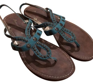 American Eagle Outfitters Teal and brown Sandals