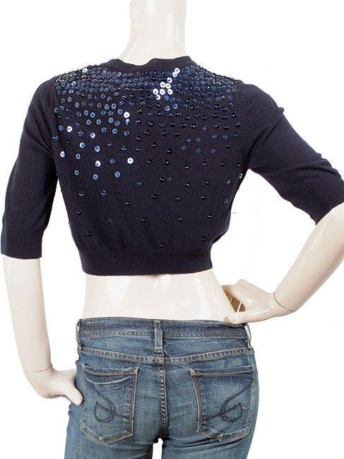 Love Moschino Sequin Cropped Cardigan