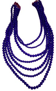 Charleston Boutique Blue Beaded Necklace