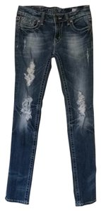 Miss Me Jean Sunny Size 29 Skinny Jeans-Distressed
