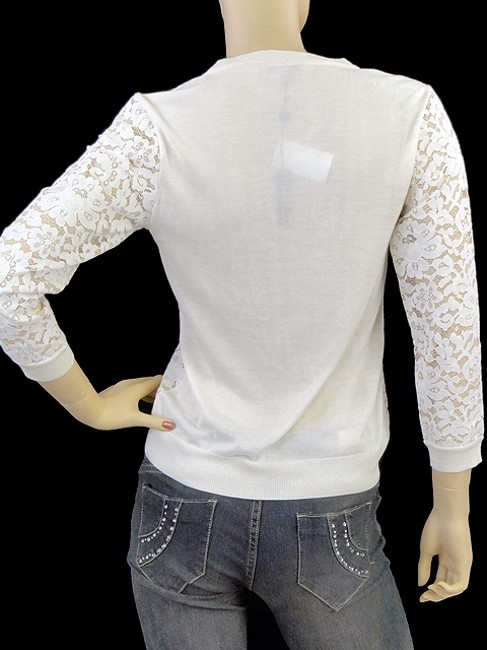 Magaschoni Lace Lace Trim Silk Cardigan