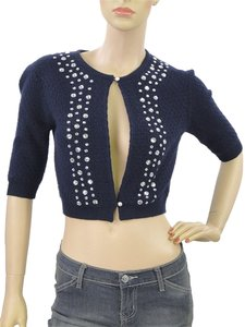 Marc by Marc Jacobs Crystal Studded Scoop Back Cardigan