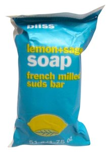 Bliss NEW Bliss Lemon + Sage Soap French Milled Suds Bar 1.75 oz Travel Size