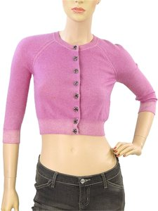 Marc Jacobs Crystal Silk Crop Cardigan