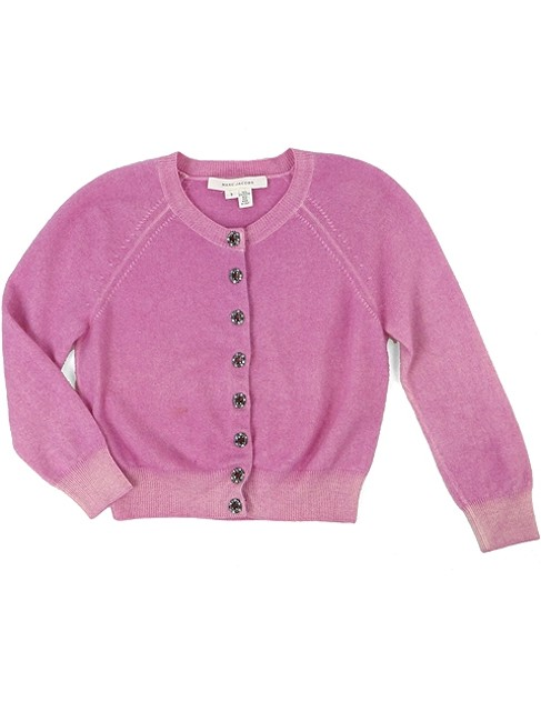 Marc Jacobs Crystal Silk Crop Knit Cardigan