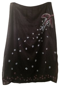 BCBGMAXAZRIA Silk Long Skirt Black