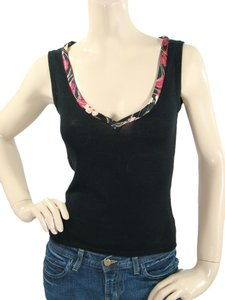 Moschino Knit Sleeveless Top Black