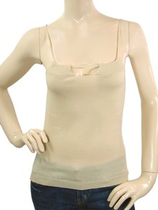 Moschino Wool Knit Sleeveless Top Beige, Cream