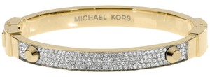 Michael Kors Michael Kors MKJ1975710 Crystal Stud Gold Bangle Bracelet NEW! $145