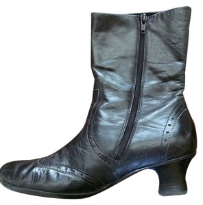 58c4bf8eb23 Rieker Leather Vintage-inspired Black Boots
