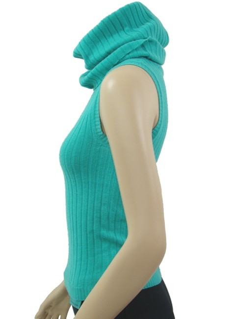 Moschino Sleeveless Wool Knit Top Turquoise