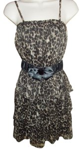 Papaya short dress Leopard print Ruffle Tiered on Tradesy