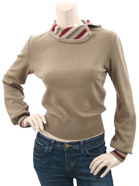 Preload https://item2.tradesy.com/images/nina-ricci-brown-taupe-wool-with-striped-detail-sweaterpullover-size-2-xs-1081021-0-0.jpg?width=400&height=650