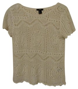 H&M Knit Crochet Sweater