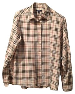 Burberry London Button Down Shirt Camel