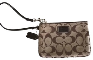 Coach Brown/beige Clutch