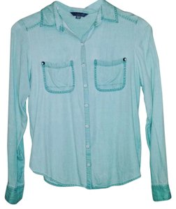 Rubbish Button Down Shirt Mint