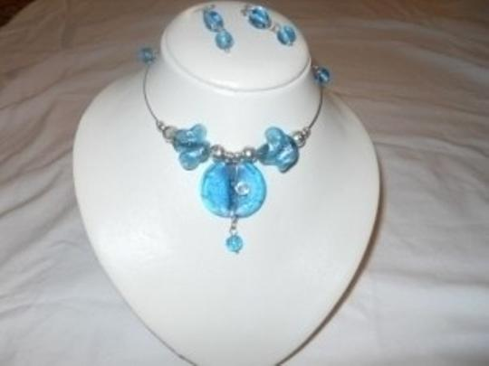Other Artisan glass choker and earrings set