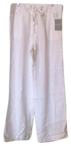 Athleta Nwt Linen Drawstring Wide Leg Pants White