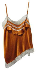 John Galliano Silk Lace Top Orange