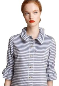 Kate Spade Striped Shirt Navy Button Down Shirt