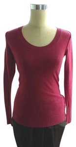 Banana Republic Italian Wool Soft Pullover Fitted Top Magenta