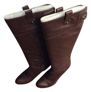 Banana Republic Leather Buckle Classic Brown Boots
