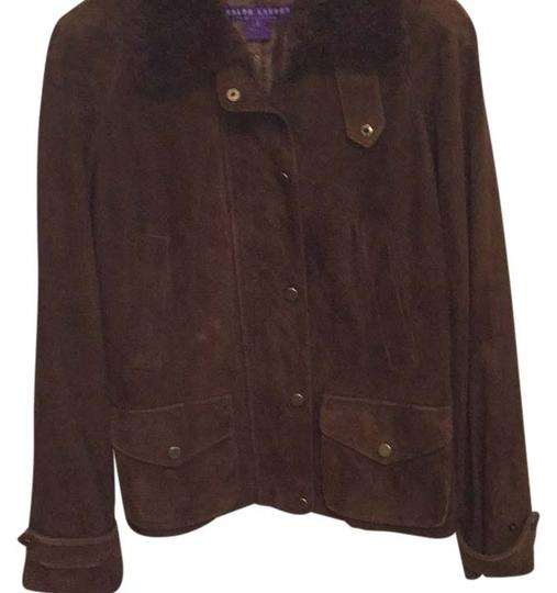 Ralph Lauren Collection Brown Leather Jacket - 82% Off Retail high-quality