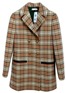 Tory Burch Print Pea Coat