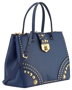 Prada Saffiano Tote Studded Chanel Satchel in Blue