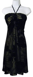 White House | Black Market Velvet Halter Dress