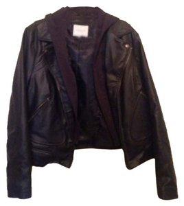 Piperlime Dark navy Leather Jacket