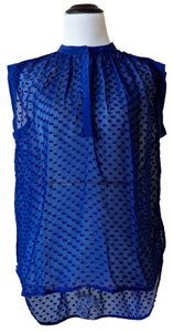 Rebecca Taylor Top Sheer Royal Blue