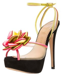 Charlotte Olympia Woman Designer Peep Toe Made In Italy Multi Pumps