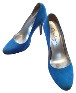 Jessica Simpson Suede Suede Light Blue Pumps