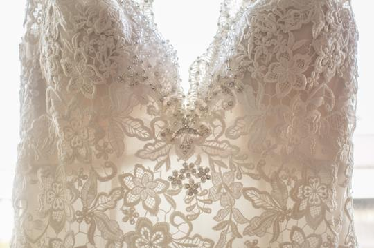 Allure Bridals Cafe/Ivory Lace with Crystal 9104 Formal Wedding Dress Size 8 (M) Image 6