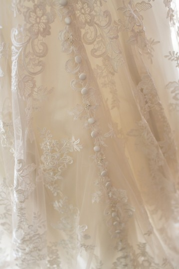 Allure Bridals Cafe/Ivory Lace with Crystal 9104 Formal Wedding Dress Size 8 (M) Image 7