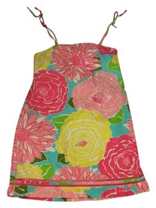 Lilly Pulitzer short dress Pink yellow teal on Tradesy