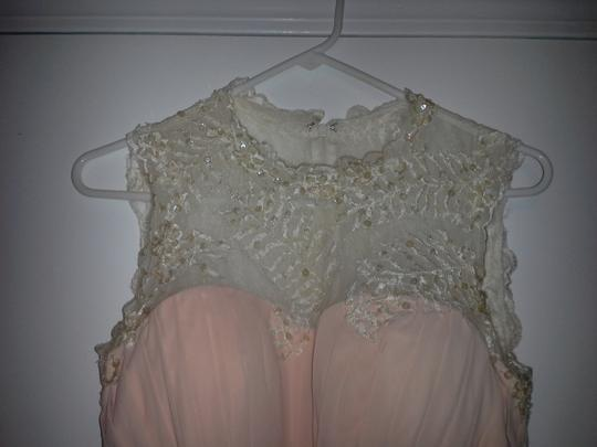 Peach Tulle Gown Feminine Wedding Dress Size 8 (M) Image 2
