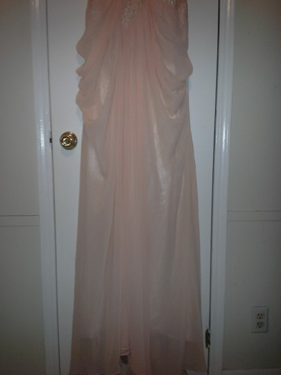 Peach Tulle Gown Feminine Wedding Dress Size 8 (M) Image 4
