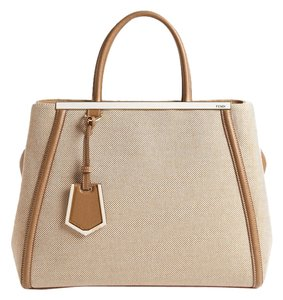 Fendi 2jours Tote Satchel in Tan Cream