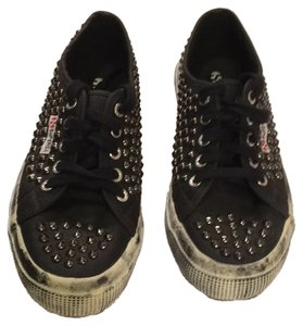 Superga Studded Sneakers black Athletic