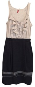 Anthropologie short dress Black with neutral top on Tradesy