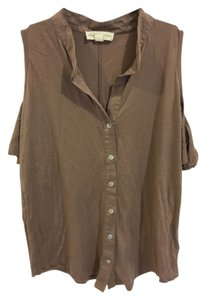 Urban Outfitters Button Down Shirt Taupe