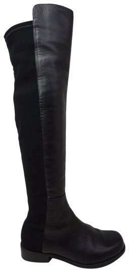 Preload https://img-static.tradesy.com/item/10814779/stuart-weitzman-black-5050-over-the-knee-otk-stretch-leather-bootsbooties-size-eu-355-approx-us-55-r-0-3-540-540.jpg